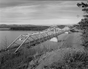TANANA RIVER BRIDGE, MILE 1303.3 ALASKA HIGHWAY, Overview of bridge from NE. Photo 2005, the bridge was removed in 2011.