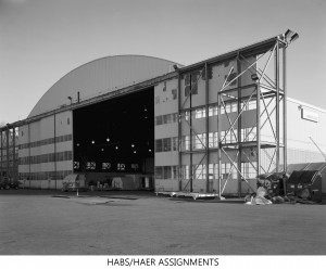 Hangar 5 from WWII, With Outrigger Door Open - King County International Airport (Boeing Field)