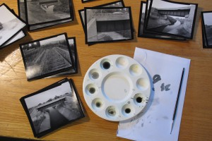Spotting contact prints from view camera negatives