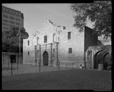 TX-318-A-4 Oblique of main facade Church with scale